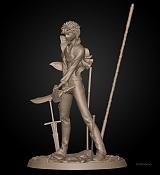 Shirou Emiya | Fate/stay night: Unlimited Blade Works | 3D Model-shirouemiya_clayfrontside.jpg