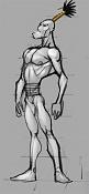 5ª actividad de modelado: Group Modeling 002 : Warrior-boceto.jpg