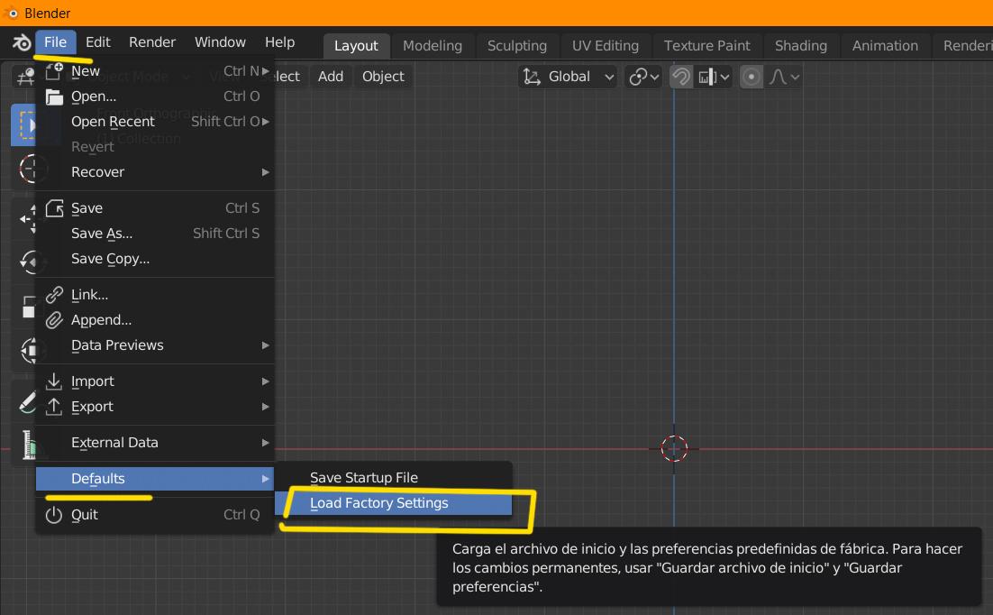 Blender se cierra al cambiar el HDRI-load.jpg