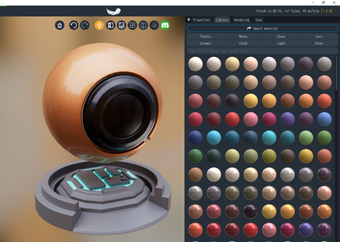Render con Ray Tracer por web-light-tracer-render-biblioteca-materiales.png