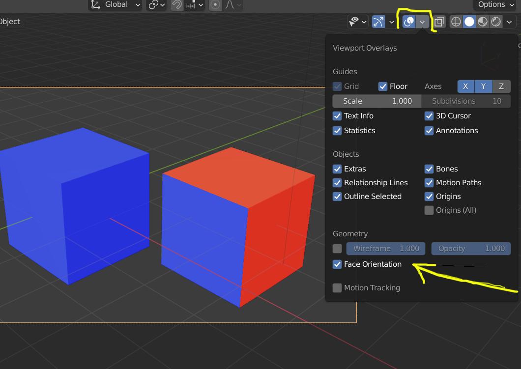 Desaparecen partes del modelo 3D al exportar a Blender-face-orientation.png