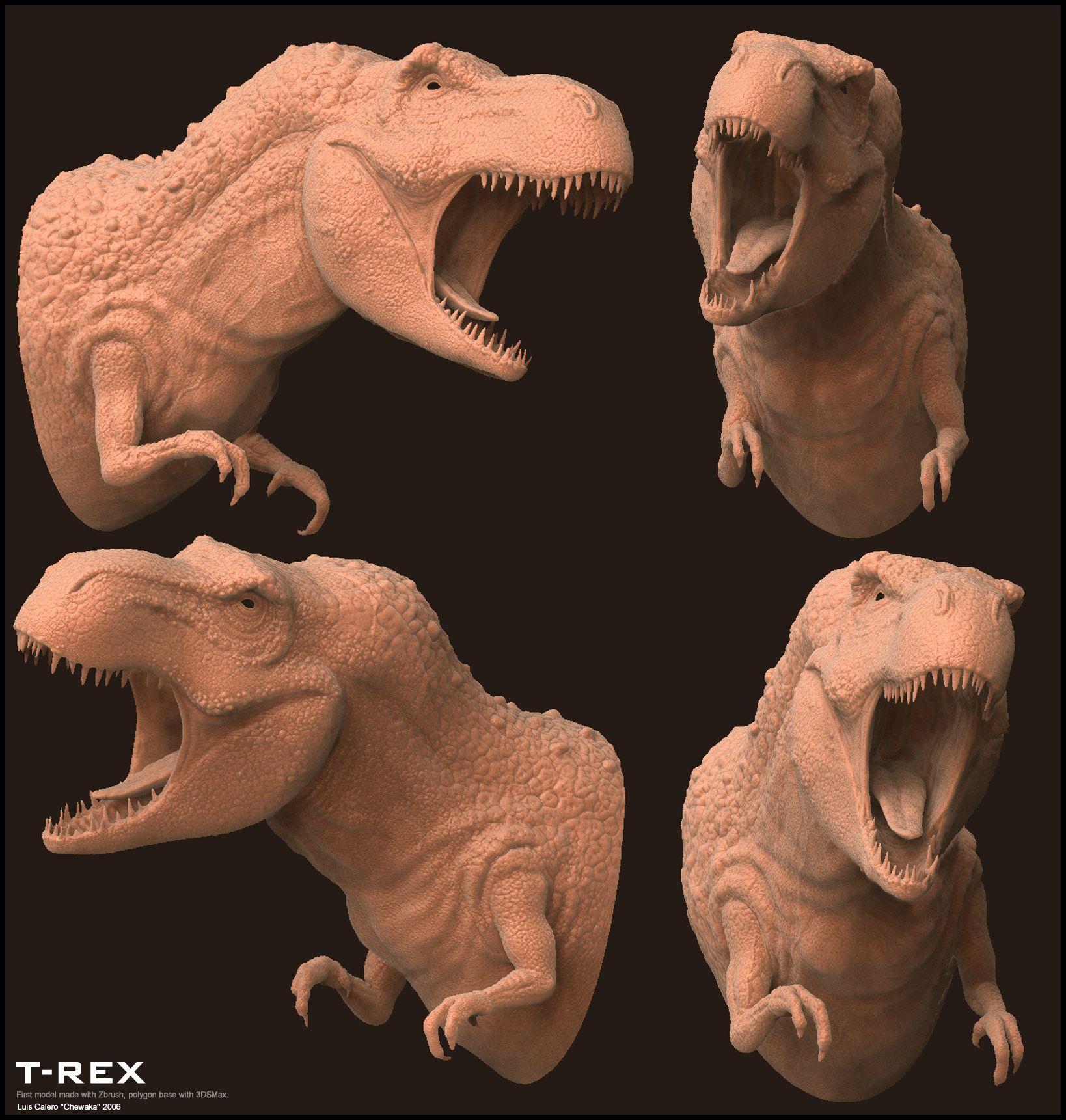 T-rex: Primer Modelo Con Zbrush