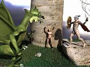 Escena del dragon y Sant Jordi  -  autor del Render: 8tintin-santjordi_y_el_drag_n.jpg