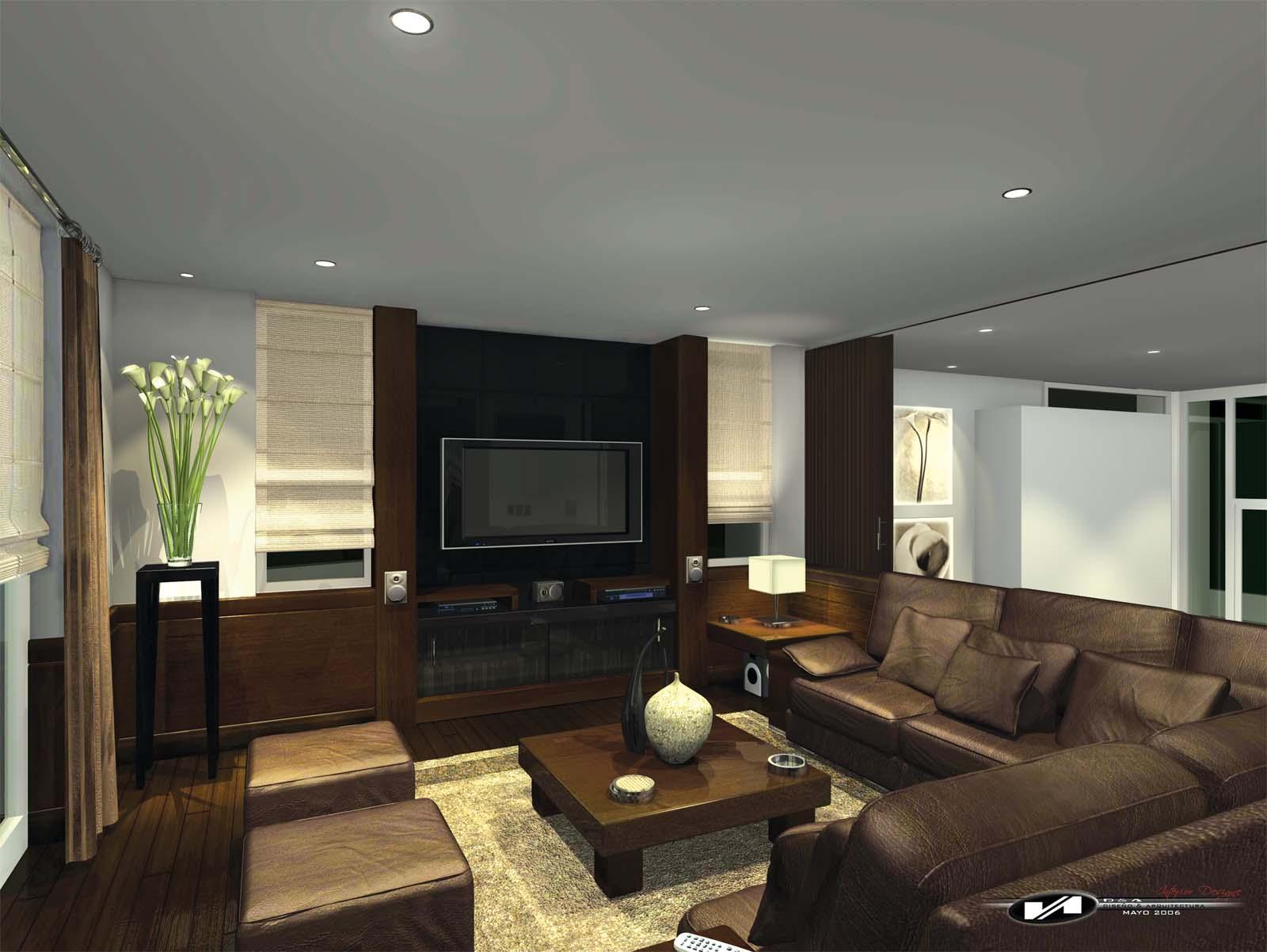 Sala de tv for Decoracion de interiores de la escuela