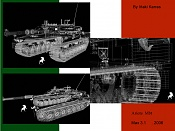 Mi primer modelado de un      tanque :- -ariete-wires.jpg