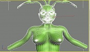 Cierva texturada con problema de fondo       -wire-deerwoman.jpg