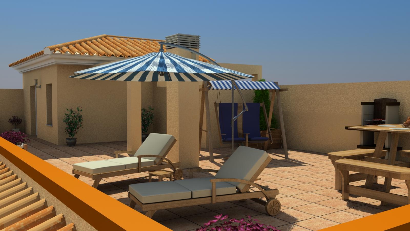 Terraza de atico for Como hacer una terraza techada