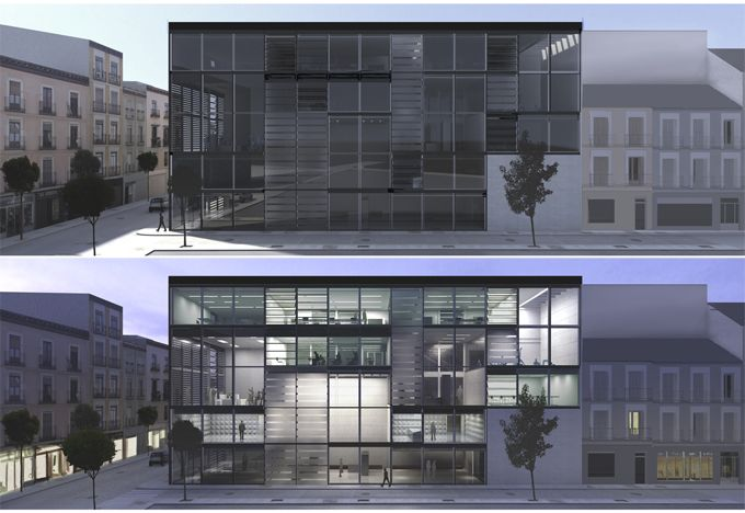 Proyecto fin de carrera arquitectura - Alzado arquitectura ...