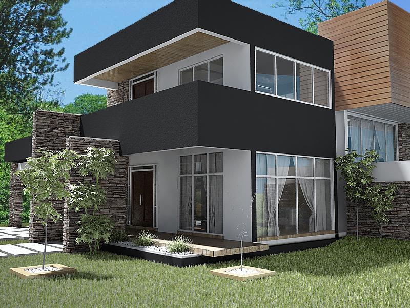 Casa moderna exterior for Fachadas exteriores de casas modernas