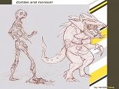 *El Dibujo del Dia *-zombie-and-monster_by-herbi.jpg