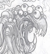Dibujos rapidos , Bocetos  y apuntes  en papel -creaturr_02.jpg