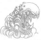 Dibujos rapidos , Bocetos  y apuntes  en papel -creaturr.jpg