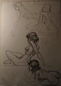 Dibujos rapidos , Bocetos  y apuntes  en papel -p8220007.jpg