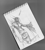 Dibujos rapidos , Bocetos  y apuntes  en papel -bocetillo-libreta.jpg