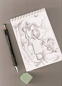 Dibujos rapidos , Bocetos  y apuntes  en papel -bocetillo-libreta3.jpg