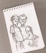 Dibujos rapidos , Bocetos  y apuntes  en papel -bocetillo-libreta4.jpg