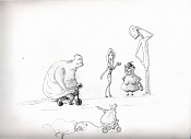 Dibujos rapidos , Bocetos  y apuntes  en papel -dont.jpg