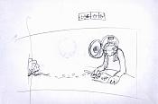 Dibujos rapidos , Bocetos  y apuntes  en papel -break.jpg