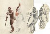 Dibujos rapidos , Bocetos  y apuntes  en papel -nativos.jpg
