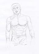 Dibujos rapidos , Bocetos  y apuntes  en papel -rockyboceto.jpg