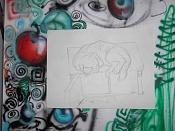 Dibujos rapidos , Bocetos  y apuntes  en papel -gato_lapiz3.jpg
