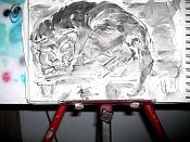 Dibujos rapidos , Bocetos  y apuntes  en papel -gato-tinta2.jpg