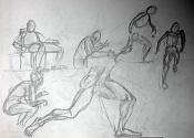 Dibujos rapidos , Bocetos  y apuntes  en papel -poses.jpg