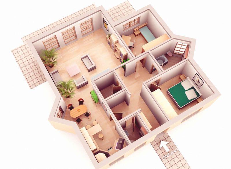 1 planta de una casa - Casas de una planta ...