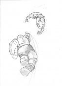 Dibujos rapidos , Bocetos  y apuntes  en papel -marvel.jpg