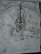 Dibujos rapidos , Bocetos  y apuntes  en papel -felino_m0l.jpg