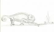 Dibujos rapidos , Bocetos  y apuntes  en papel -camaleon3.jpg
