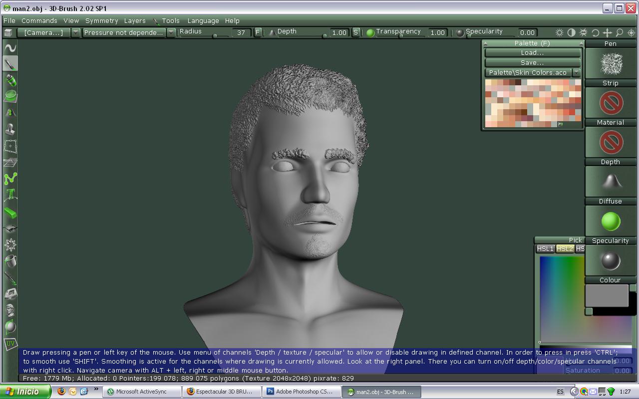 3dBrush, el programa de esculpido de original nombre -1minute.jpg
