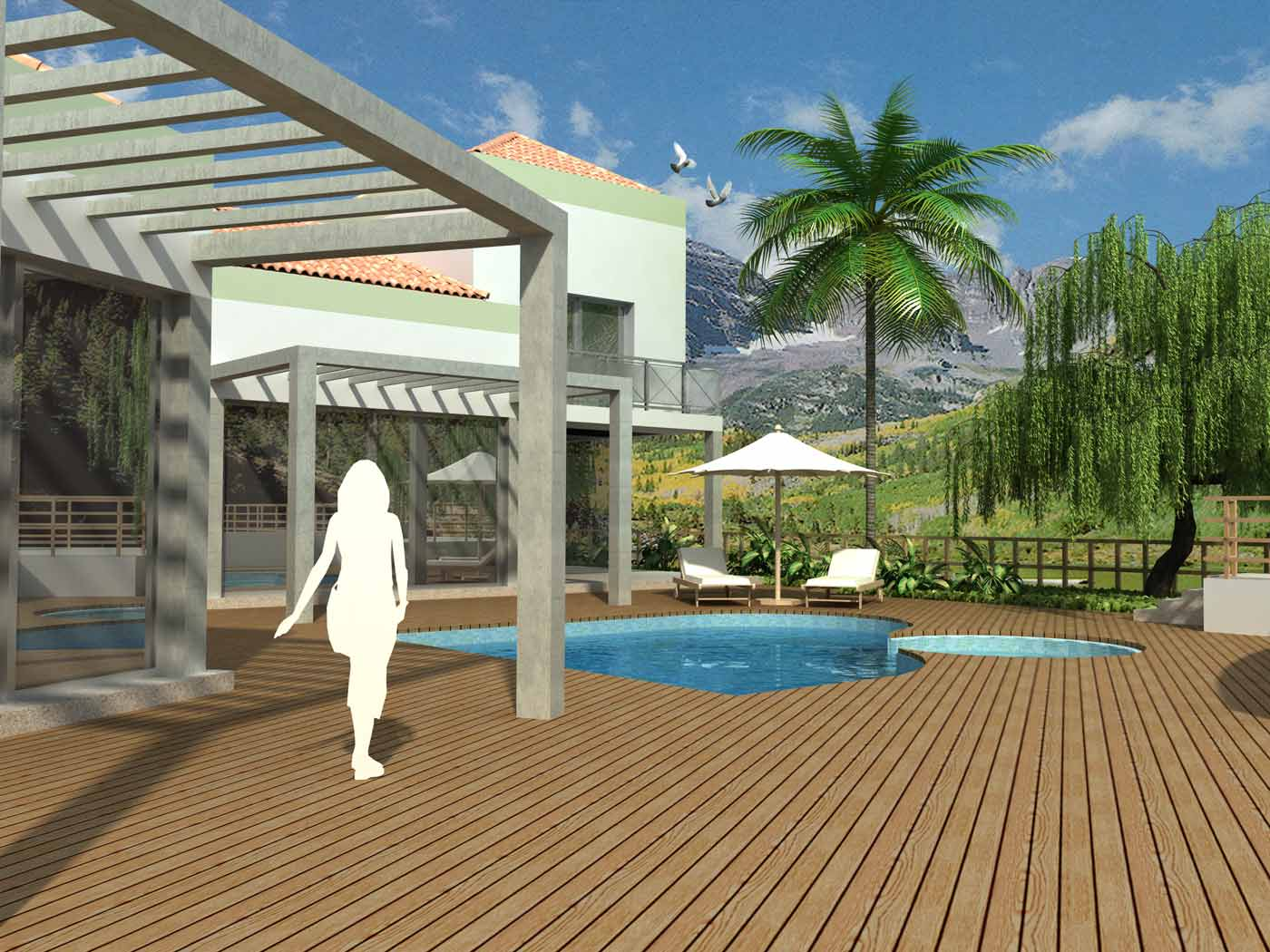 ayuda mejorar render casa con piscina