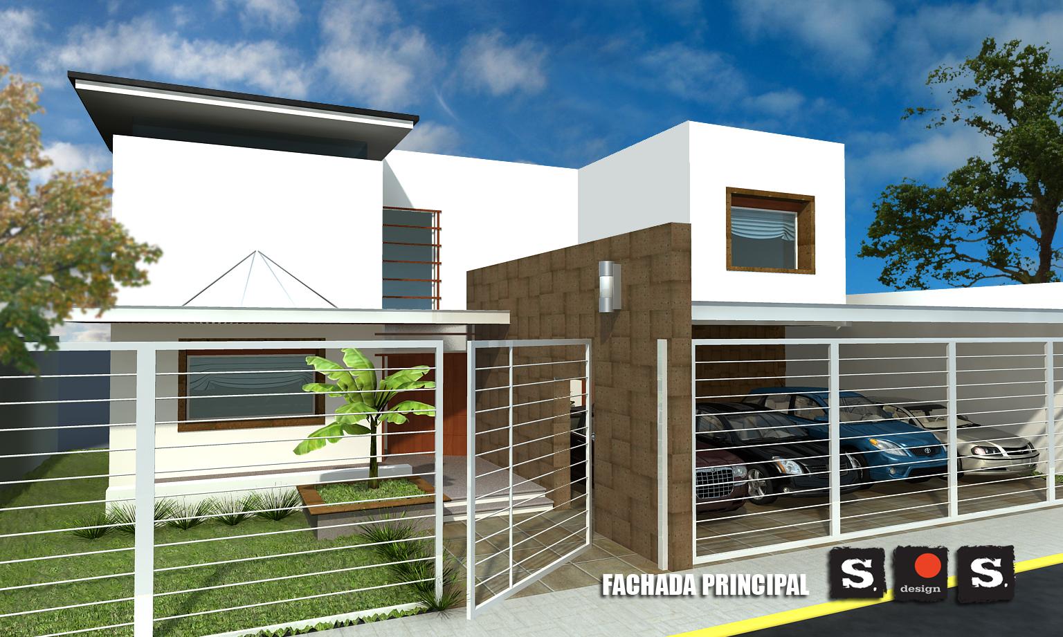 Arquitectura technicolor for Modelo de fachadas de viviendas