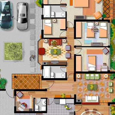 Necesito bibliotecas de objetos para planos en 2d vista aerea for Planos de bibliotecas