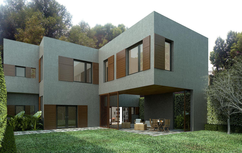 Casa gris en san angel for Casas pintadas de gris interior