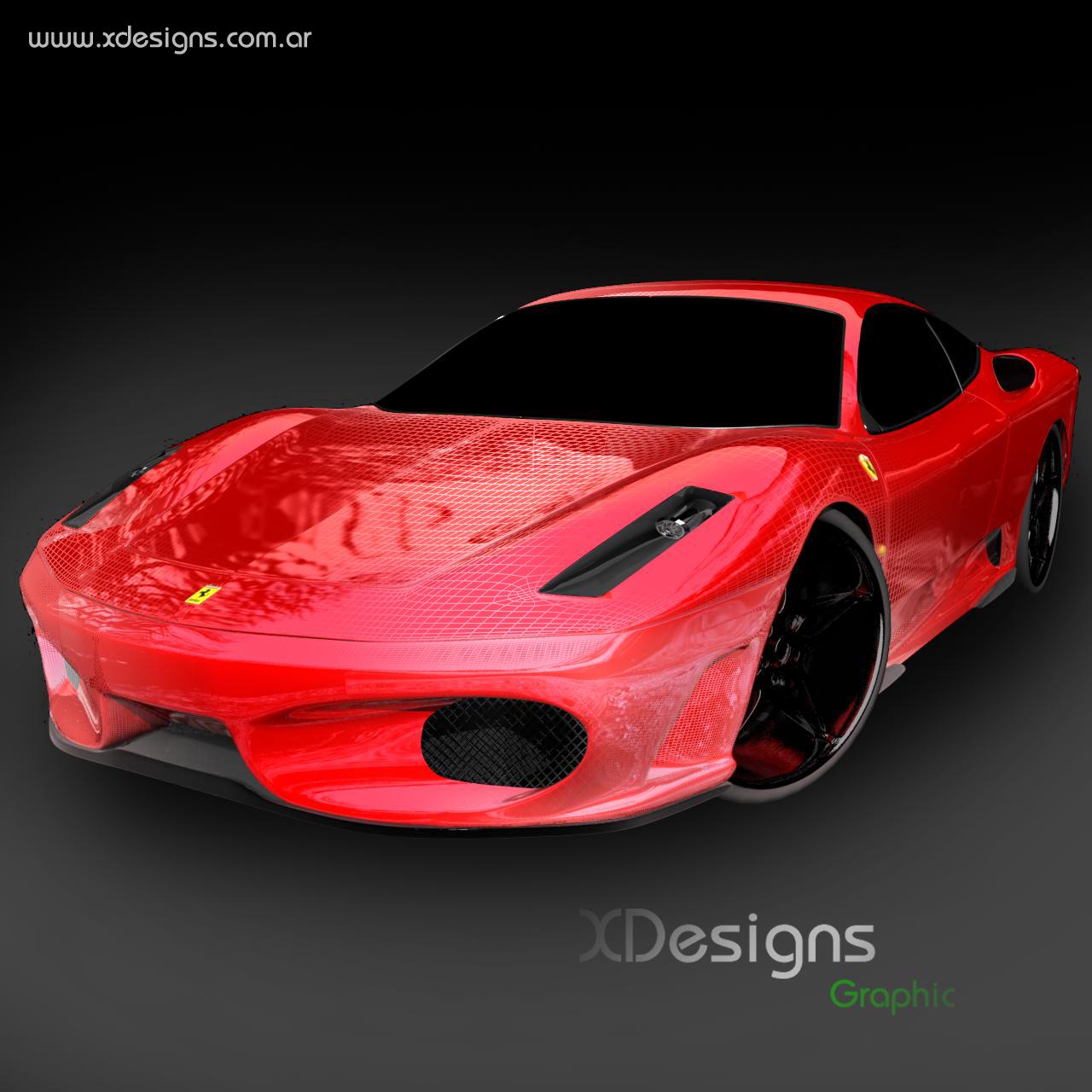 Cenário 3d Ferrari F430 Modelo 3d: Ferrari F430