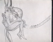 Dibujos rapidos , Bocetos  y apuntes  en papel -biomech1.jpg