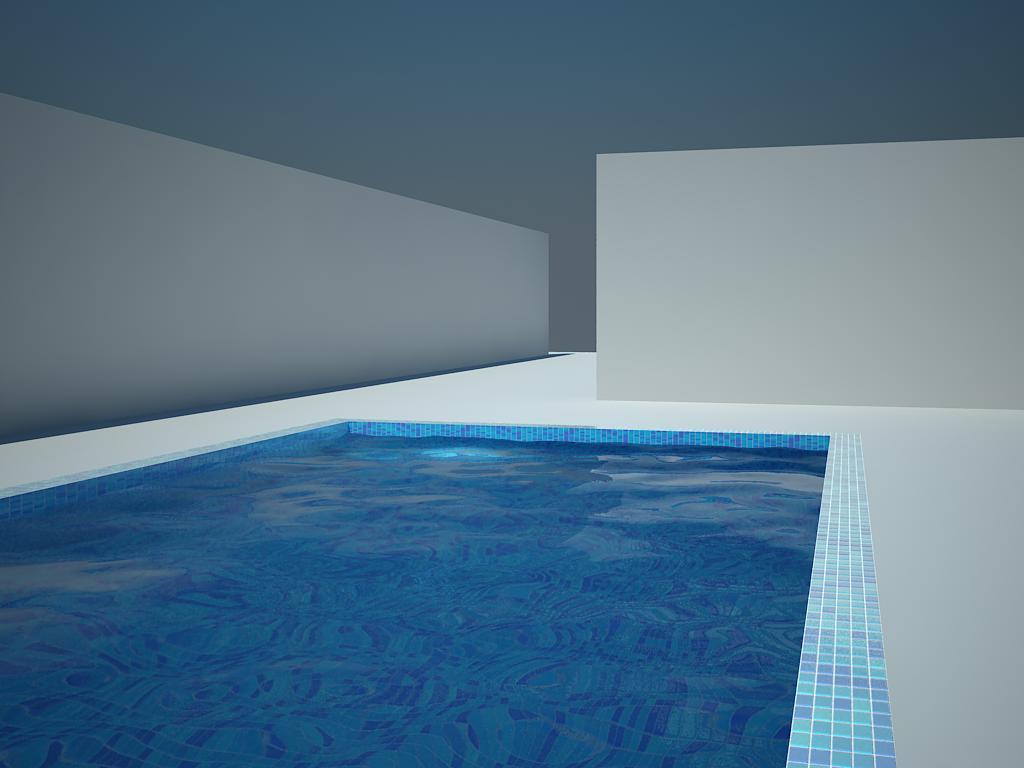 Textura de agua caustica en una piscina con vray - Agua de la piscina turbia ...