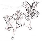 Dibujos rapidos , Bocetos  y apuntes  en papel -quijote-copy.jpg
