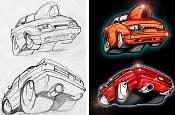 Dibujos rapidos , Bocetos  y apuntes  en papel -carros.jpg