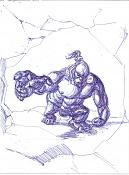 Dibujos rapidos , Bocetos  y apuntes  en papel -raro.jpg