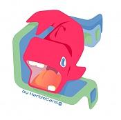 Let's Vector  Vector art Topic-ballena-rosa.jpg
