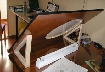 Mesa de animaci n casera - Mesa de dibujo portatil ...