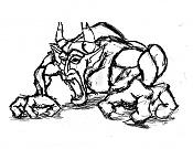 Dibujos rapidos , Bocetos  y apuntes  en papel -diablo-dibujo.jpg