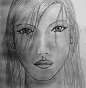 Dibujos rapidos , Bocetos  y apuntes  en papel -chica.jpg