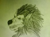 Dibujos rapidos , Bocetos  y apuntes  en papel -werewolf_m0l.jpg