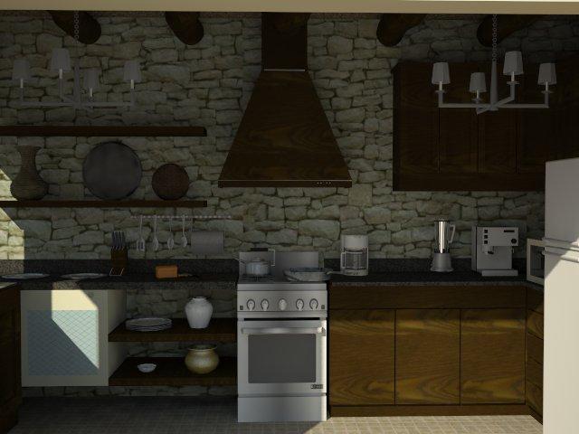 Cocina rustica rustica - Campana extractora rustica ...