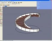 Sketchup problema con viga circular-escalera-0.jpg