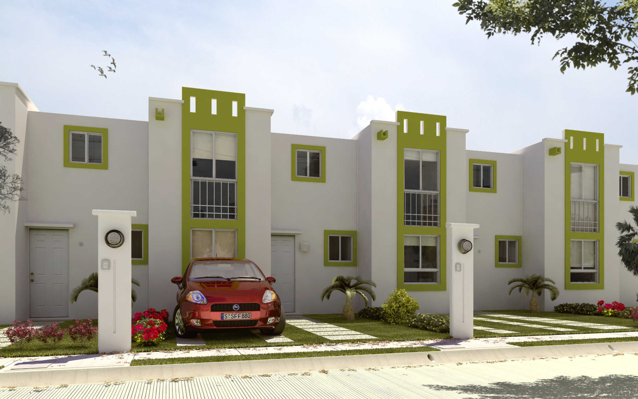 Casas de interes social exteriores for Fachadas de casas modernas de interes social